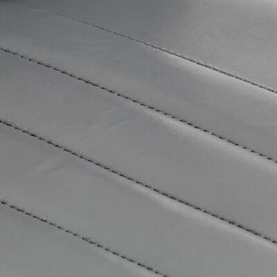 vidaXL Sillas de comedor 2 unidades cuero auténtico gris