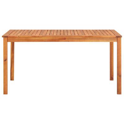 vidaXL Set comedor de jardín 5 pzas y cojines madera maciza de acacia
