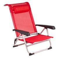 Bo-Camp Silla de playa aluminio rojo