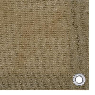 vidaXL Toldo para balcón HDPE gris taupe 75x600 cm