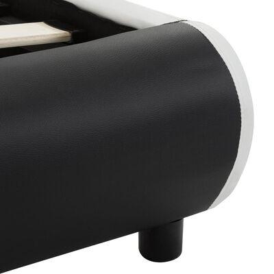 vidaXL Estructura de cama con cajones piel sintética negra 180x200 cm
