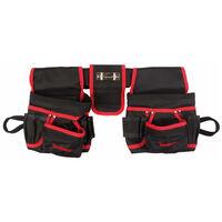 Toolland Bolso de cinturón herramientas electricista negro rojo FI68