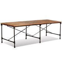vidaXL Mesa de comedor de madera maciza reciclada 240 cm