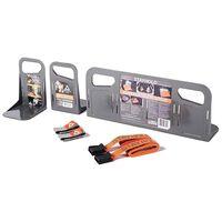 STAYHOLD Set de portaequipajes de 7 piezas Classic mini gris plástico