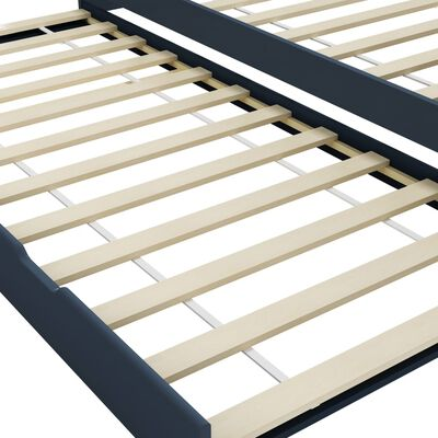 vidaXL Estructura de sofá cama madera de pino gris 90x200 cm