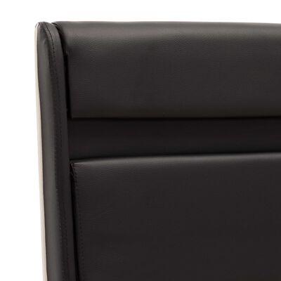 vidaXL Estructura de cama con LED cuero sintético negro 180x200 cm