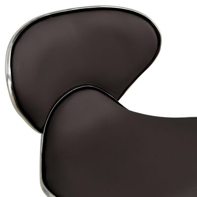 vidaXL Taburete de salón de belleza de cuero sintético marrón