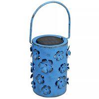 Luxform Farol solar LED para jardín Daisy azul 8 lúmenes 29113