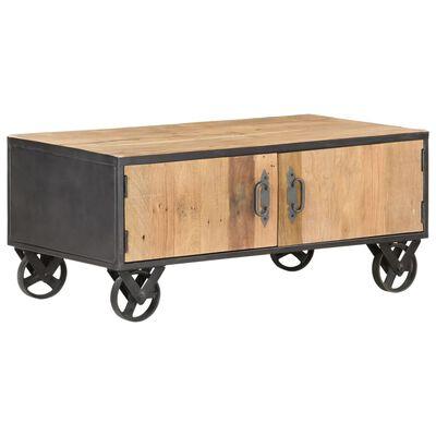 vidaXL Mesa de centro de madera maciza reciclada 90x50x39 cm