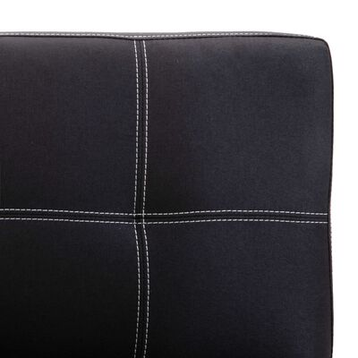 vidaXL Sofá de 2 plazas de tela negro