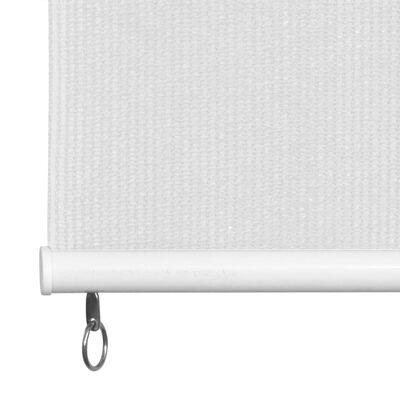vidaXL Persiana enrollable de exterior HDPE blanca 60x140 cm