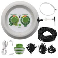 vidaXL Kit de riego por goteo automático jardín con controlador