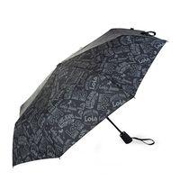 Paraguas Automático Plegable Negro Estampado