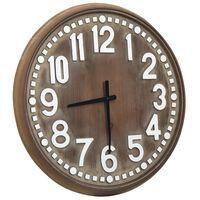 vidaXL Reloj de pared de MDF marrón 60 cm