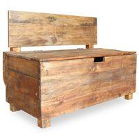 vidaXL Banco de madera maciza reciclada 86x40x60 cm