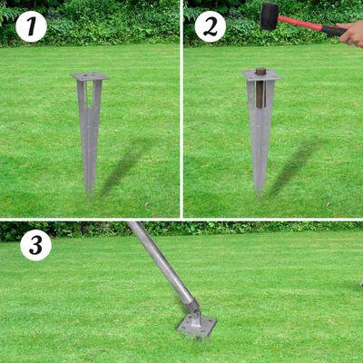vidaXL Valla metálica con estacas postes acero galvanizado 1,5x1 m