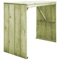 vidaXL Mesa de bar de madera de pino impregnada 130x60x110 cm