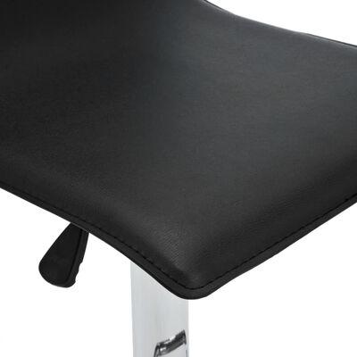 vidaXL Taburete de barra de cocina 2 unidades cuero sintético negro