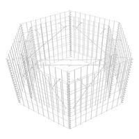 vidaXL Arriate hexagonal de gaviones 100x90x50 cm