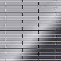 ALLOY Avenue-S-S-MM Mosaico de metal sólido Acero inoxidable gris