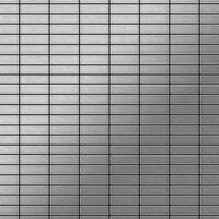 ALLOY Cabin-S-S-MB Mosaico de metal sólido Acero inoxidable gris