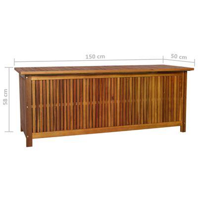 vidaXL Caja de almacenaje de jardín 150x50x58 cm madera maciza acacia