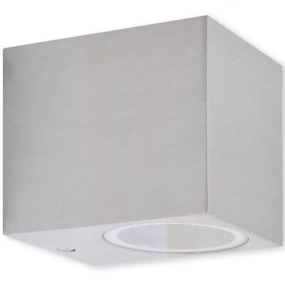 vidaXL Lámparas de pared cúbicas para exteriores 2 piezas