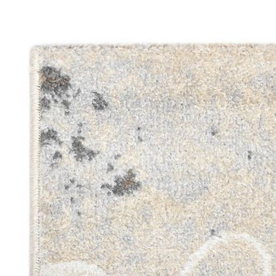 vidaXL Alfombra de PP gris 140x200 cm