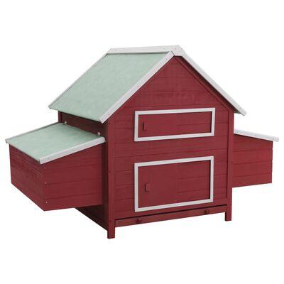 vidaXL Gallinero de madera rojo 157x97x110 cm