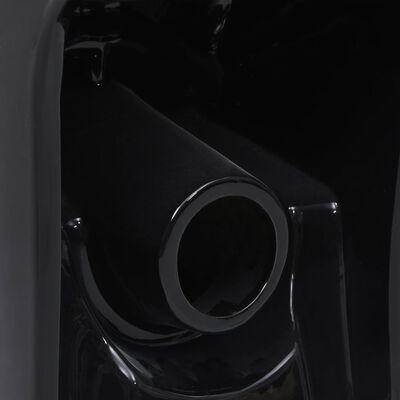 vidaXL Inodoro WC flujo posterior de cerámica negro