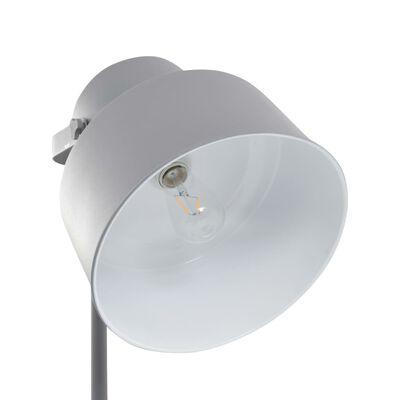 vidaXL Lámpara de pie de metal gris E27