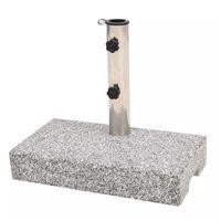 vidaXL Base de sombrilla de granito rectangular 25 kg