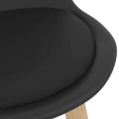vidaXL Mesa alta y taburetes de bar 3 piezas negro