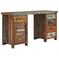 vidaXL Escritorio de madera maciza reciclada 140x50x77 cm