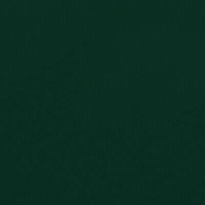 vidaXL Toldo de vela triangular de tela oxford verde oscuro 4x5x6,4 m
