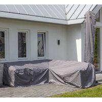 Madison Funda para juego de muebles de jardín gris 270x210x90 cm