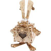 Robotime  Kit maqueta DIY de caja de música Steampunk Bunny