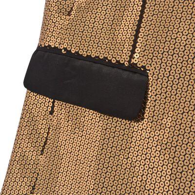 vidaXL Chaqueta de lentejuelas para esmoquin de hombre dorada talla 50