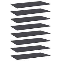 vidaXL Estantes para estantería 8 uds aglomerado gris 80x20x1,5 cm