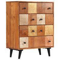vidaXL Mueble con cajones de madera maciza de acacia 60x30x75 cm