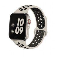 Pulsera para Apple Watch 38 mm modelo deportivo - natural / negro