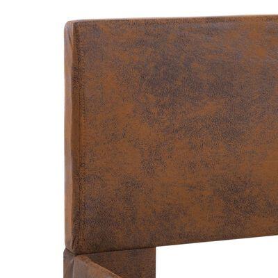 vidaXL Estructura de cama de cuero sintético marrón 120x200 cm