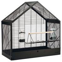 Beeztees Jaula de pájaros Yara metal negra 71x35x70 cm