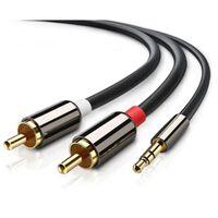 Cable de audio estéreo RCA de 3,5 mm a 2x - 2 m