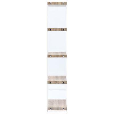 vidaXL Estantería de 5 niveles madera de roble 60x29x167 cm