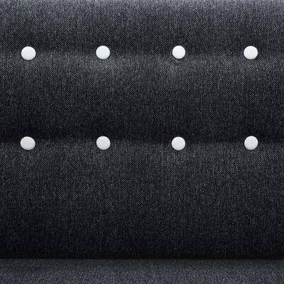 vidaXL Sofá forma de L tapizado de tela gris oscuro 171,5x138x81,5 cm