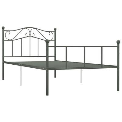 vidaXL Estructura de cama de metal gris 90x200 cm