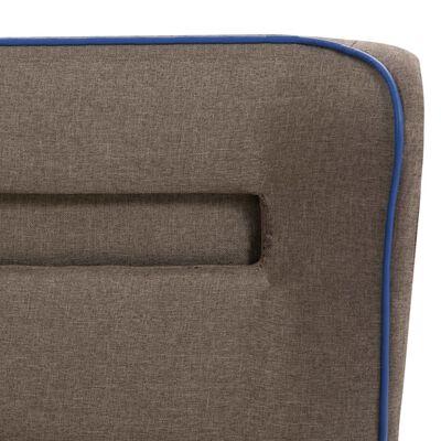 vidaXL Cama con LED y colchón tela gris topo 160x200 cm