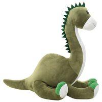 vidaXL Dinosaurio Brontosaurus de peluche verde