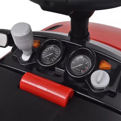 Coche de juguete rojo con música, modelo Land Rover 348